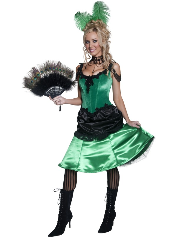 Western Saloon Girl For Sale - Authentic Western Saloon Girl Costume, with Dress and Hair Click to Enlarge