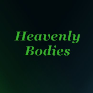Heavenly Bodies | The Costume Corner