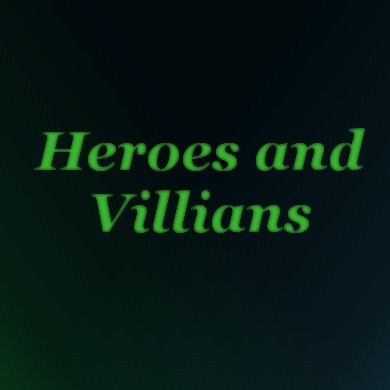 Heroes And Villians | The Costume Corner