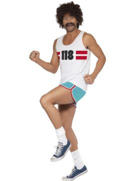 118118 Male Runner Costume For Sale - 118118 Male Runner Costume, with Shorts and Top, in Display Bag | The Costume Corner Fancy Dress Super Store