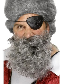 Pirate Beard - Grey For Sale - Deluxe nylon pirate beard in light grey. | The Costume Corner Fancy Dress Super Store