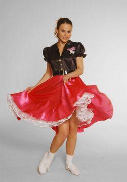 Black And Pink Bopper dress For Sale - 1950s Black/Pink Bopper dress (Hire Costume) | The Costume Corner