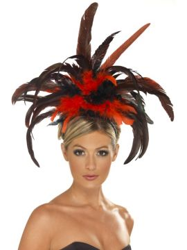 Burlesque Headband For Sale - Grand Burlesque Headband with Feather Plumes | The Costume Corner Fancy Dress Super Store