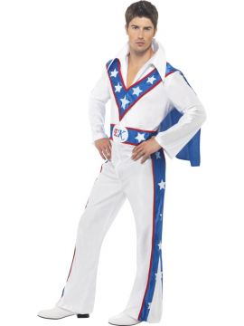 Evel Knievel For Sale - Evel Knievel Costume, White, includes All in One Jumpsuit with Cape | The Costume Corner Fancy Dress Super Store