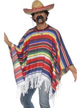 Poncho For Sale - Poncho, Multicoloured | The Costume Corner Fancy Dress Super Store