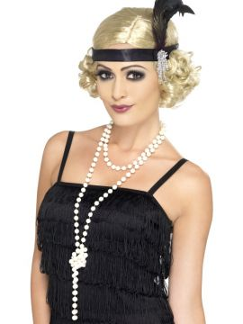 Pearl Necklace For Sale - Pearl Necklace, 180cm Long. | The Costume Corner Fancy Dress Super Store