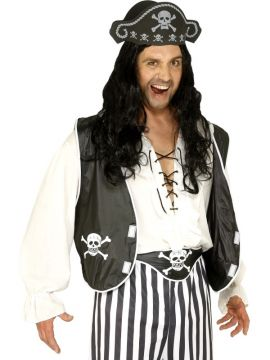 Pirate Set - Black For Sale - Pirate Set, Black, with Hat, Waistcoat and Belt | The Costume Corner Fancy Dress Super Store