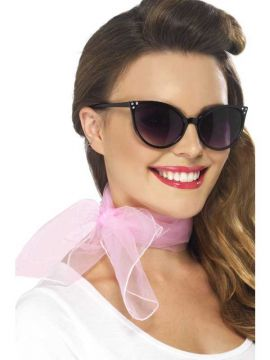 Neck Scarf - Pink For Sale - Pink 50s Neck Scarf | The Costume Corner Fancy Dress Super Store