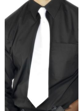 Gangster Tie For Sale - Deluxe White Gangster Tie | The Costume Corner Fancy Dress Super Store