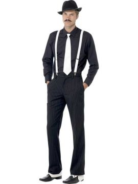 Gangster Instant Kit For Sale - Gangster Instant Kit, with Braces, Tie, Hat, Spats and Moustache | The Costume Corner Fancy Dress Super Store