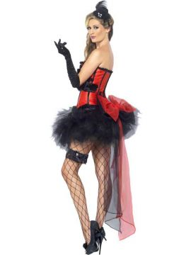 Burlesque Instant Kit For Sale - Burlesque Instant Kit, with Gloves, Fascinator, Garter, Tights and Bustle | The Costume Corner Fancy Dress Super Store