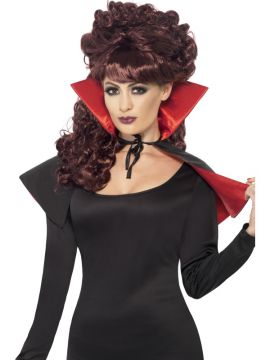 Mini Vamp Cape For Sale - Mini Vamp Cape, Red and Black with High Collar. | The Costume Corner Fancy Dress Super Store