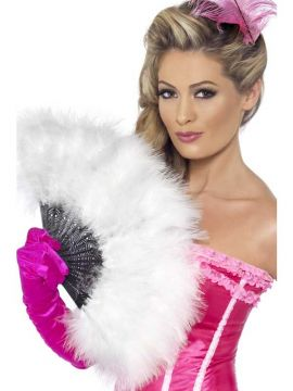 Marabou Fan For Sale - Marabou Fan, White | The Costume Corner Fancy Dress Super Store