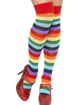 Clown Socks For Sale - Clown Socks, Long, Multi-Coloured. | The Costume Corner Fancy Dress Super Store