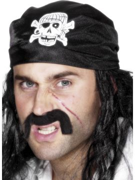 Pirate Bandanna For Sale - Pirate Bandanna, Black, with Skull and Crossbones. | The Costume Corner Fancy Dress Super Store