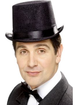 Black Top Hat For Sale - Tales of Old England Indestructible Topper Hat, Black | The Costume Corner Fancy Dress Super Store