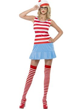 Where's Wenda? - 'Where's Wally?' For Sale - Where's Wenda? Cutie Costume, Dress with Hat, Glasses and Stockings | The Costume Corner Fancy Dress Super Store