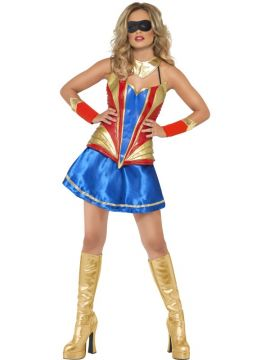 Fever Hero Hottie For Sale - Fever Hero Hottie, with Dress, Latex Bodice, Choker and Wrist Cuffs | The Costume Corner Fancy Dress Super Store
