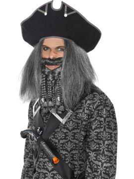 Sea Pirate Hat - Black For Sale - Terror of the Sea Pirate Hat, Black   The Costume Corner Fancy Dress Super Store