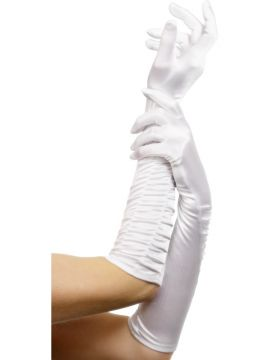 Temptress Gloves White For Sale - Temptress Gloves White, Long 46cm/18 inches | The Costume Corner Fancy Dress Super Store