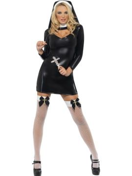 Sister Bliss - Nun For Sale - Fever Sister Bliss Costume, with Dress and Headpiece | The Costume Corner Fancy Dress Super Store