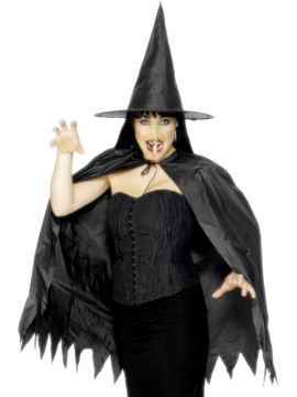 Witch Instant Set For Sale - Witch Instant Set with Cape, Hat and Nose. | The Costume Corner Fancy Dress Super Store