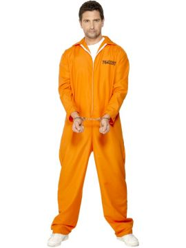 Escaped Prisoner For Sale - Escaped Prisoner Costume, Orange, with Boiler Suit. | The Costume Corner Fancy Dress Super Store