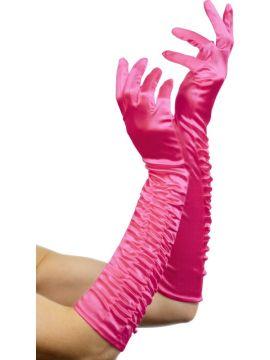 Temptress Gloves For Sale - Temptress Glove, Fuchsia, Long 46cm/18 inches | The Costume Corner Fancy Dress Super Store