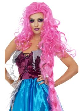 Mangled Maiden Wig For Sale - Mangled Maiden Wig, Pink, Floor Length Long Wig, in Display Box | The Costume Corner Fancy Dress Super Store