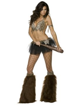 Cave Babe For Sale - Fever Cave Babe Costume, With Tutu, Top, Belt, Arm Bands and Boot Covers | The Costume Corner Fancy Dress Super Store