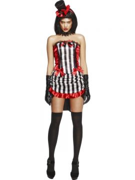 Fever Madame Vamp Costume For Sale - Fever Madame Vamp Costume, with Skirt, Top and Hat, in Display Bag | The Costume Corner Fancy Dress Super Store