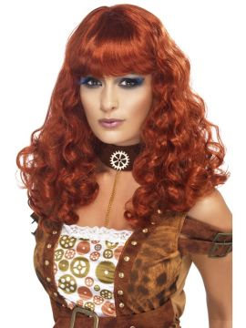 Steam Punk Female Wig For Sale - Steam Punk Female Wig, Auburn, in Display Box | The Costume Corner Fancy Dress Super Store