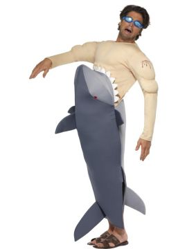 Man Eating Shark For Sale - Man Eating Shark Costume, with Shark Bodysuit and Goggles. | The Costume Corner Fancy Dress Super Store