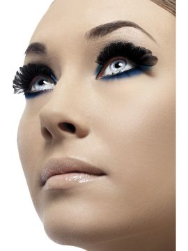 Feather Eyelashes For Sale - Feather Eyelashes, Black, Small, contains Glue, in Display Box | The Costume Corner Fancy Dress Super Store
