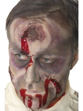 Bullet Wound For Sale - A Hole in the Head Scar, Bullet Wound, with 7oz Blood, Self Adhesive | The Costume Corner Fancy Dress Super Store