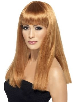 Glamourama Wig For Sale - Glamourama Wig, Auburn, Long, Straight with Fringe, in Display Box | The Costume Corner Fancy Dress Super Store