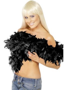 Black Deluxe Boa For Sale - Deluxe Boa, Black, Feather, 180cm, 80g | The Costume Corner Fancy Dress Super Store
