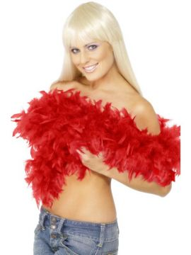 Deluxe Boa For Sale - Deluxe Boa, Red, Feather, 180cm, 80g | The Costume Corner Fancy Dress Super Store