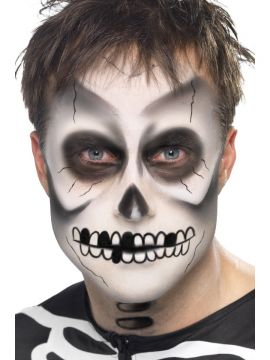 Skeleton Kit For Sale - Skeleton Kit, Face Paint, Black Crayon and Sponge, on Display Card | The Costume Corner Fancy Dress Super Store