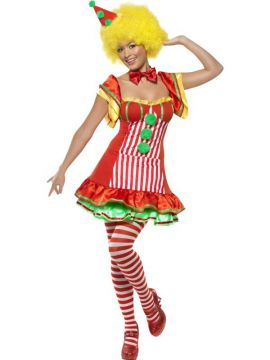 Boo Boo The Clown For Sale - Boo Boo The Clown, with Dress and Hat on Headband | The Costume Corner Fancy Dress Super Store