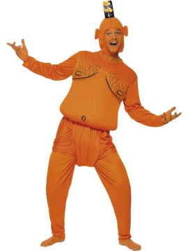 Tango Man For Sale - Tango Man Padded Costume, Orange, with Top, Trousers and Headpiece | The Costume Corner Fancy Dress Super Store