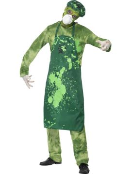 Biohazard Male For Sale - Biohazard Male Costume, Green, with Trousers, Top, Apron, Hat, Mask and Gloves | The Costume Corner Fancy Dress Super Store