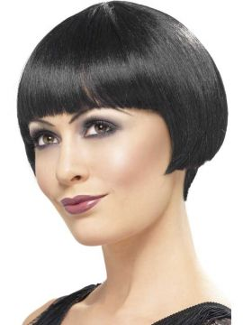 Flapper Bob Wig - Black For Sale - 20'S Flapper Bob Wig, Black, Short | The Costume Corner Fancy Dress Super Store