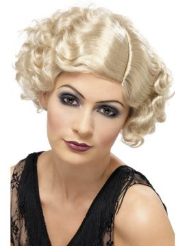 Flapper Wig - Blonde For Sale - 20's Flirty Flapper Wig, Blonde, Short and Wavy, in Display Box | The Costume Corner Fancy Dress Super Store