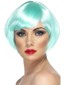 Babe Wig - Aqua For Sale - Babe Wig, Aqua, Short Bob with Fringe | The Costume Corner Fancy Dress Super Store
