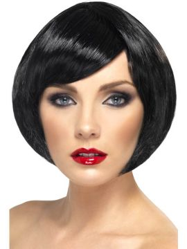 Babe Wig - Black For Sale - Babe Wig, Black, Short Bob with Fringe | The Costume Corner Fancy Dress Super Store