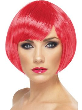 Babe Wig - Fuchsia For Sale - Babe Wig, Fuchsia, Short Bob with Fringe | The Costume Corner Fancy Dress Super Store
