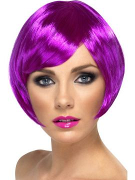 Babe Wig - Purple For Sale - Babe Wig, Purple, Short Bob with Fringe | The Costume Corner Fancy Dress Super Store