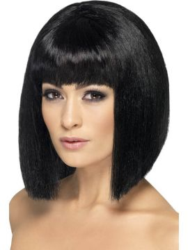 Coquette Wig - Black For Sale - Coquette Wig, Black, Short with Fringe | The Costume Corner Fancy Dress Super Store