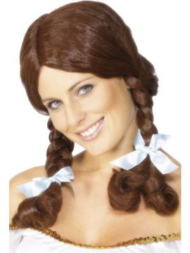 Wig - Country Girl - Brown For Sale - Country Girl Wig, Brown, Plaited. | The Costume Corner Fancy Dress Super Store